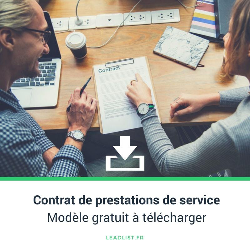 Contrat De Prestations De Service Definition Et Modele Gratuit A Telecharger